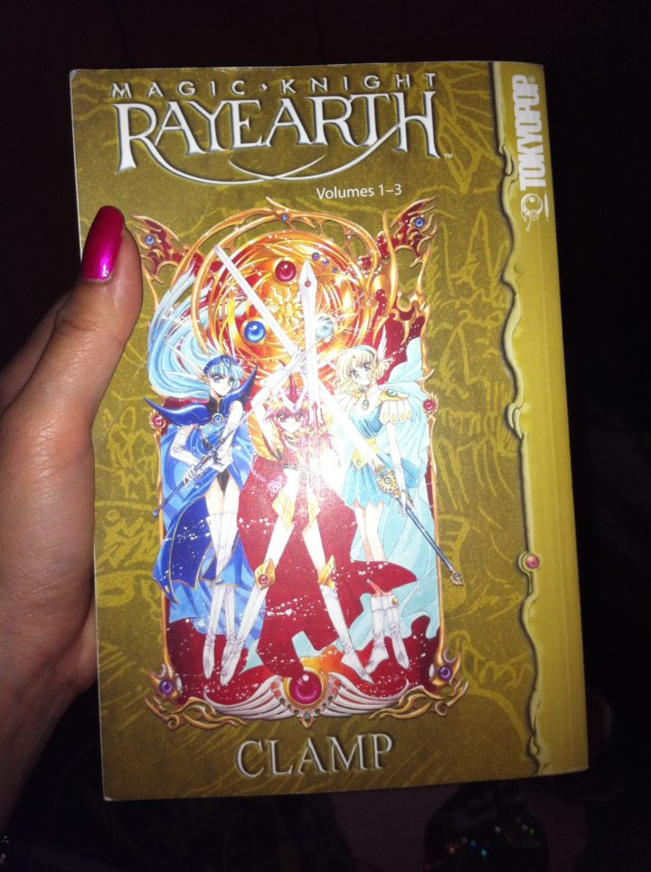 My copy of the first three books from Magic Knight Rayearth