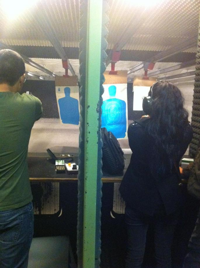 Shot guns with my family
