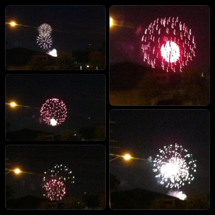 4th of July fireworks outside my apartment