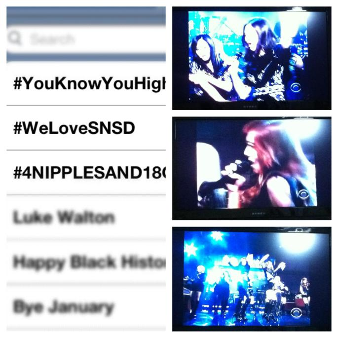 Saw SNSD live on American television. Ignore the other inappropriate hashtags haha