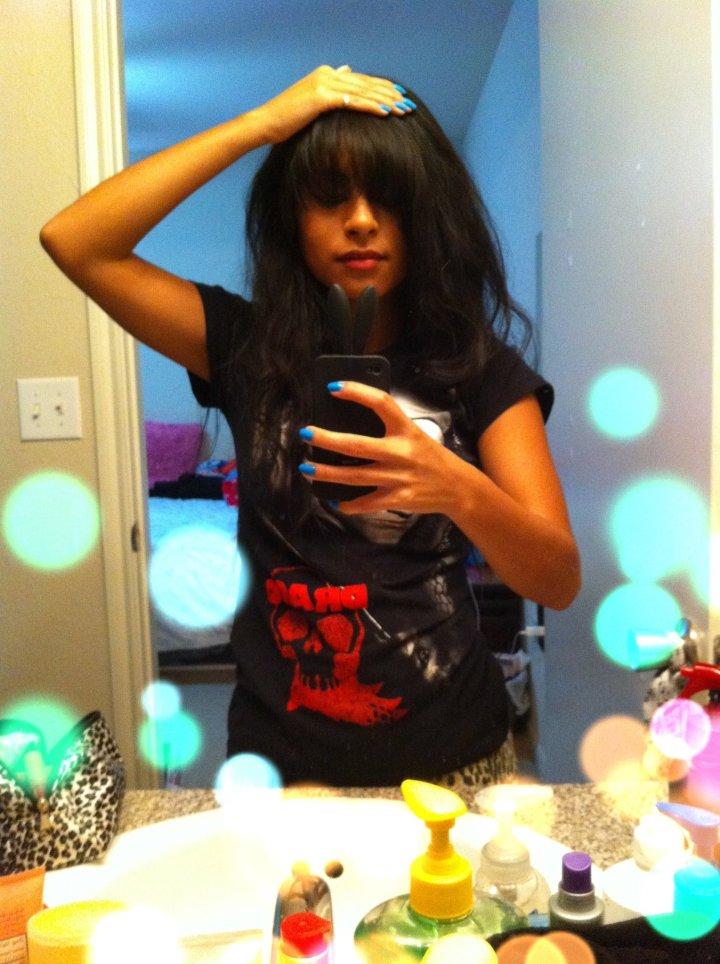 Cut my bangs by myself (゜◇゜)