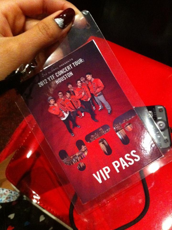 Saw YTF live in Houston! VIP