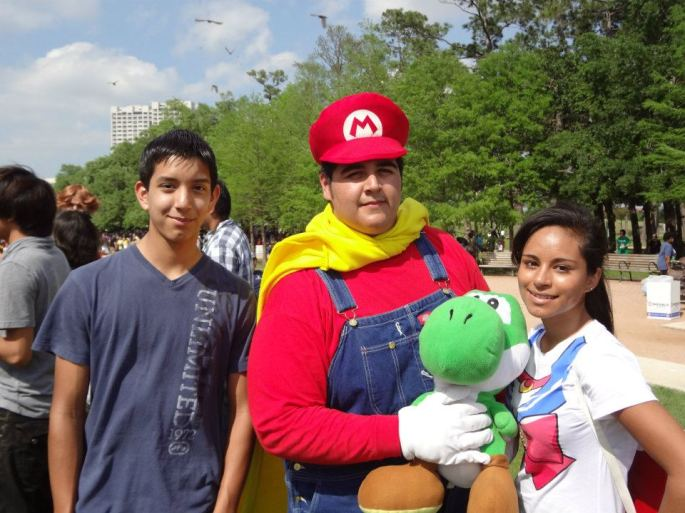 Went to the Houston Japanese festival with my cousin and otouto (not pictured)
