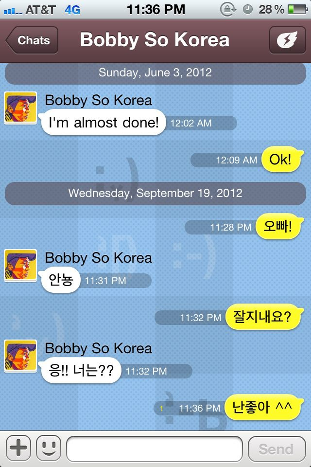 Realized that I haven't talked to this oppa in months!  щ(゜ロ゜щ)